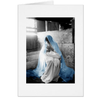 Blue Veil Mother Mary Child Cards