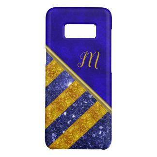 Blue Velvet, Gold Glitter Monogram Case-Mate Samsung Galaxy S8 Case