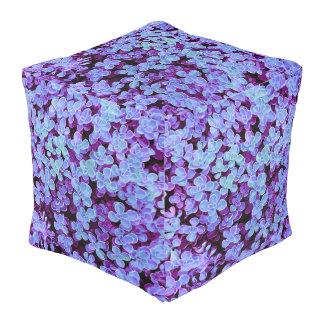 Blue Velvet Hedge Box - Flower Surface Texture Pouf