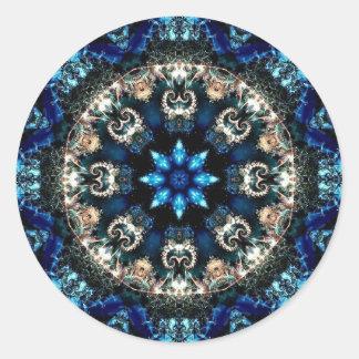 Blue Velvet Round Sticker