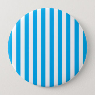 Blue Vertical Stripes 10 Cm Round Badge