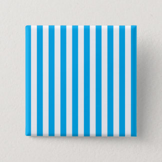 Blue Vertical Stripes 15 Cm Square Badge