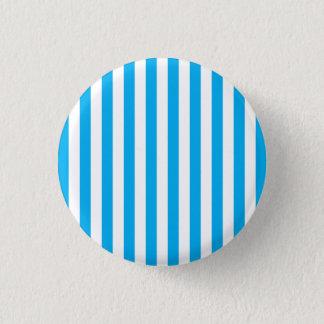 Blue Vertical Stripes 3 Cm Round Badge