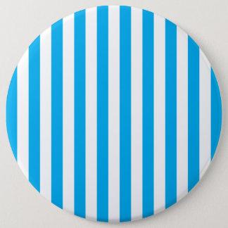 Blue Vertical Stripes 6 Cm Round Badge