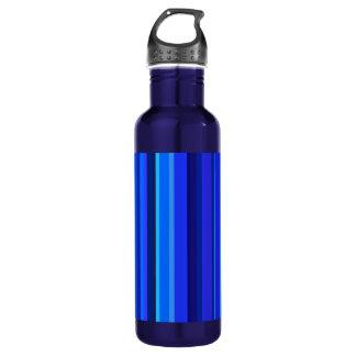 Blue vertical stripes 710 ml water bottle