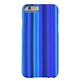 Blue vertical stripes barely there iPhone 6 case
