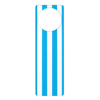 Blue Vertical Stripes Door Hanger