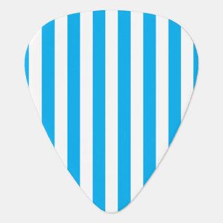 Blue Vertical Stripes Guitar Pick