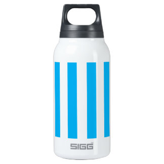 Blue Vertical Stripes Insulated Water Bottle