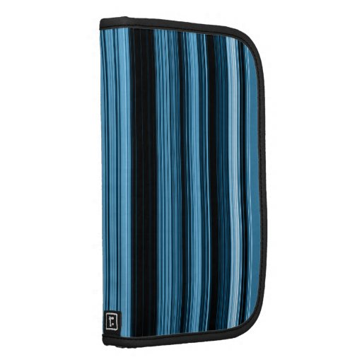 Blue Vertical Stripes Large Rickshaw Folio Planners