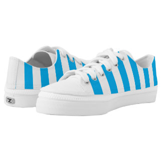 Blue Vertical Stripes Low Tops