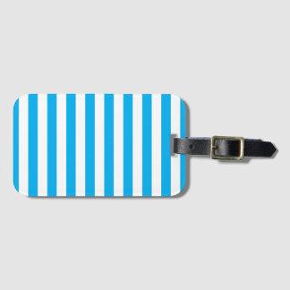 Blue Vertical Stripes Luggage Tag