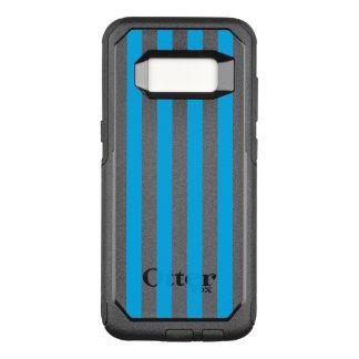 Blue Vertical Stripes OtterBox Commuter Samsung Galaxy S8 Case