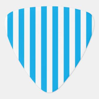 Blue Vertical Stripes Plectrum