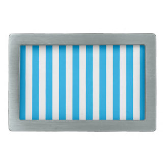 Blue Vertical Stripes Rectangular Belt Buckle