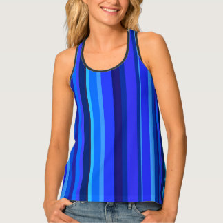 Blue vertical stripes singlet