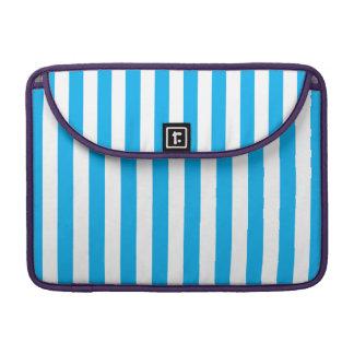 Blue Vertical Stripes Sleeve For MacBooks