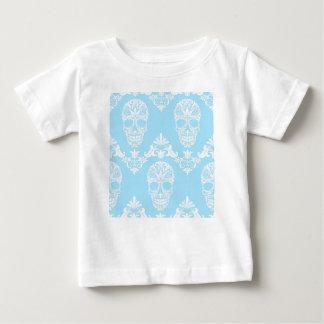 blue victorian skulls baby T-Shirt