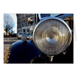 Blue Vintage Car Card