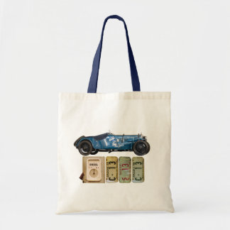 Blue Vintage Car Tote Bag