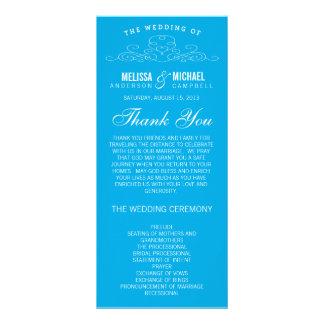 BLUE VINTAGE ELEGANCE | WEDDING PROGRAM CUSTOM RACK CARDS