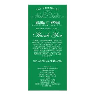 BLUE VINTAGE ELEGANCE   WEDDING PROGRAM PERSONALIZED RACK CARD