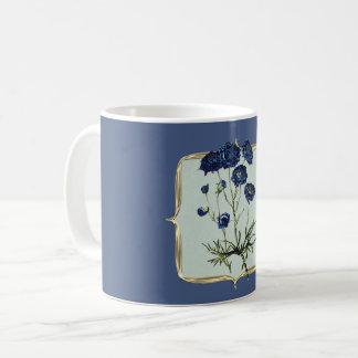 Blue Vintage Flowers Coffee Mug