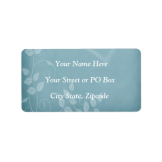 Blue Vintage Address Label