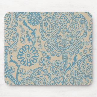 blue vintage mouse pad
