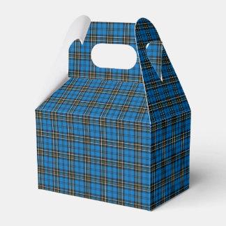 Blue Vintage Plaid Gift Box