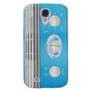 Blue Vintage Radio Samsung Galaxy S4 Case