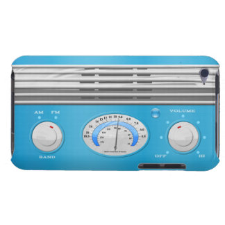 Blue Vintage Radio iPod Touch Case-Mate Case