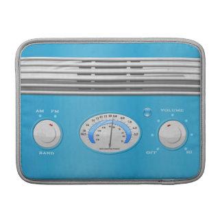 Blue Vintage Radio Sleeve For MacBook Air