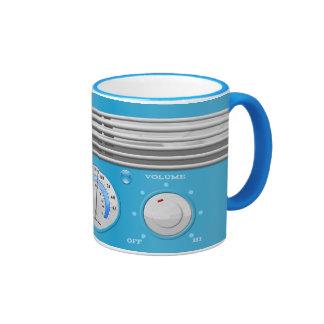 Blue Vintage Radio Mug