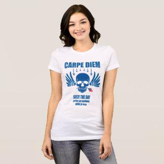 Blue Vintage Retro Carpe Diem. Seize the day T-Shirt