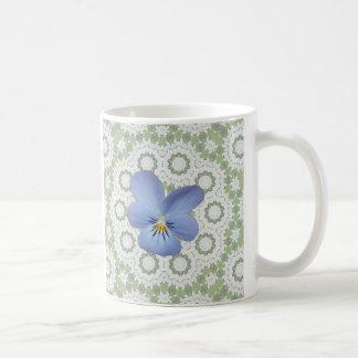 Blue Viola Pansy ~ Cicles Coffee Mug