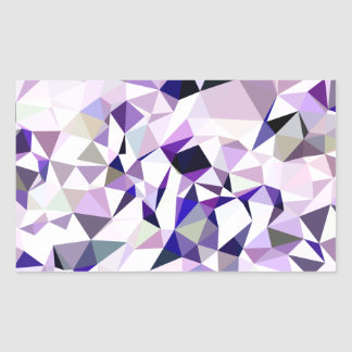 Blue Violet Abstract Low Polygon Background Rectangular Sticker