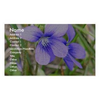 Blue violet business card templates