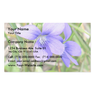 Blue violet business cards