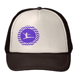 Blue Violet Chevron; Ballet Hat