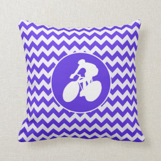 Blue Violet Chevron; Cycling Throw Cushions