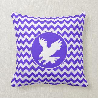 Blue Violet Chevron; Eagle Throw Cushions