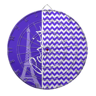 Blue Violet Chevron; Eiffel Tower Dart Board
