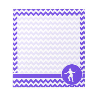 Blue Violet Chevron; Fencing Notepads