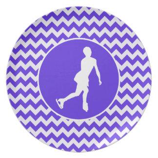 Blue Violet Chevron; Figure Skating Plates