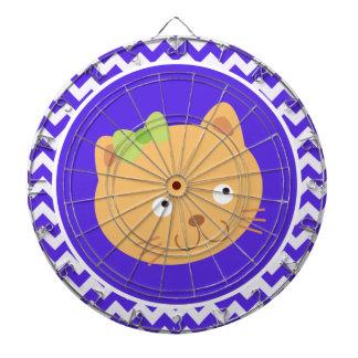 Blue Violet Chevron; Kitten Dartboards