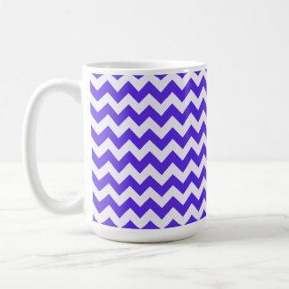 Blue Violet Chevron Mug