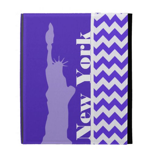 Blue Violet Chevron; New York iPad Cases