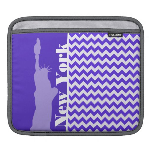 Blue Violet Chevron; New York iPad Sleeves