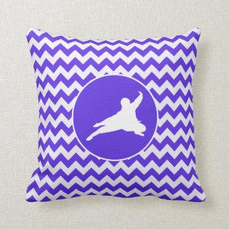 Blue Violet Chevron; Ninja Throw Pillows